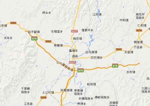 道县地图 - 道县电子地图 - 道县高清地图 - 2019年道县地图