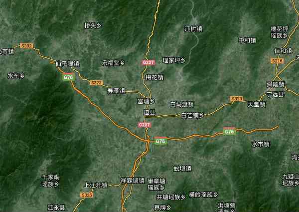 道县卫星地图 - 道县高清卫星地图 - 道县高清航拍地图 - 2019年道县高清卫星地图